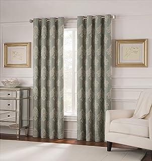 """Valeron Belvedere Grommet Room-Darkening Window Panel, 84"""", Spa"""