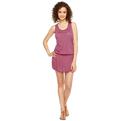 Splendid Malibu Stripe Dress Cover-Up (Pink) Women