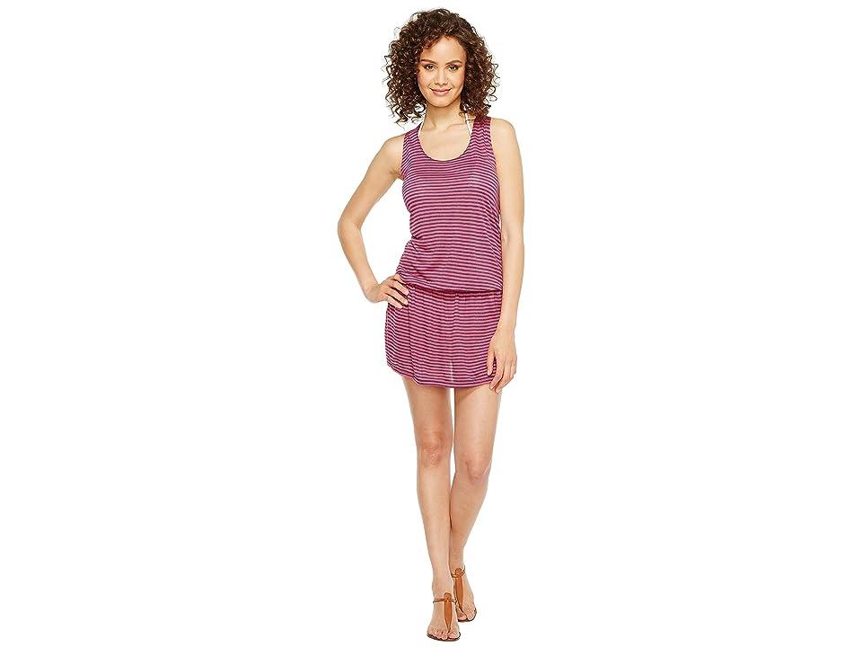 Splendid Malibu Stripe Dress Cover-Up (Pink) Women