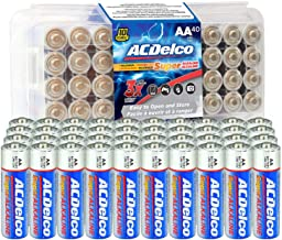 ACDelco 40-Count AA Batteries, Maximum Power Super Alkaline Battery, 10-Year Shelf Life, Recloseable Packaging