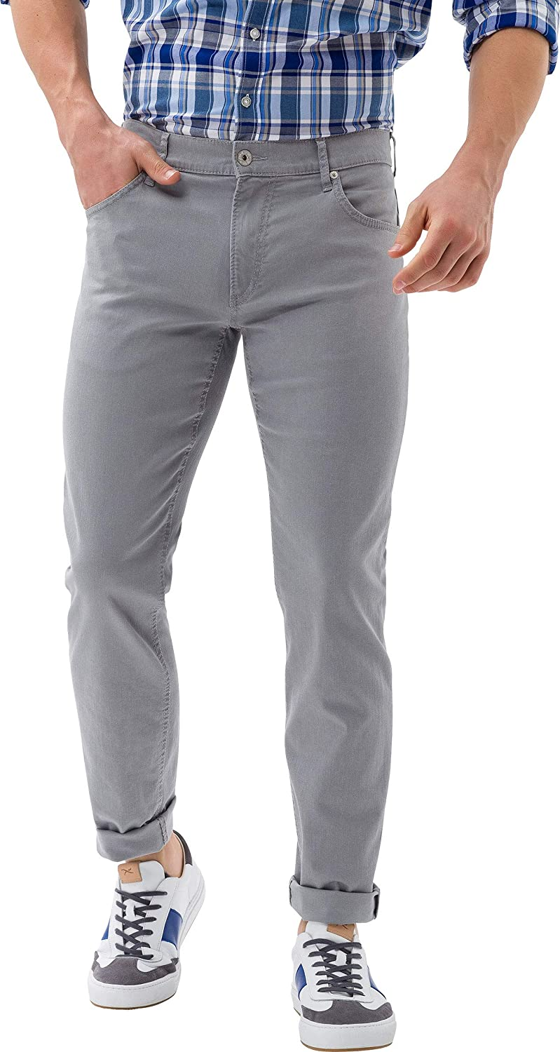 BRAX Chuck Hi Flex Summer Colour Five Pocket Pantalon Homme Gris