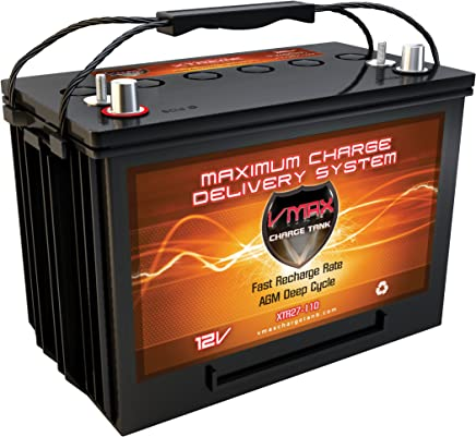 QTY2 VMAX MR147-155 AGM Batteries for Minn Kota Traxxis 24V 80lb Trolling Motor