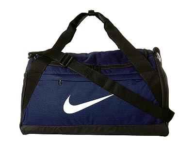 Nike Brasilia Small Training Duffel Bag (Midnight Navy/Black/White) Duffel Bags