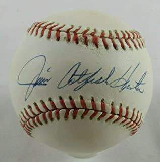 Jim Catfish Hunter Autographed Ball - Rawlings AE73630 - PSA/DNA Certified - Autographed Baseballs