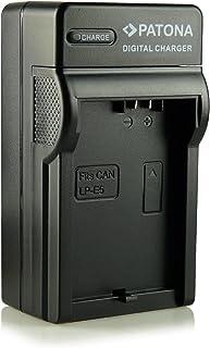 Patona - Cargador tipo LP-E5 con tres clavijas para cámaras de fotos digitales Canon EOS 1000D/450D/500D etc.