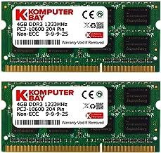 Komputerbay 8GB (2x4GB) DDR3 SODIMM (204 pines) 1333Mhz PC3 10600 para Apple de 8 GB