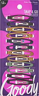 Goody Epoxy Contour Hair Clips, Assorted Colors, 12-Count (1942344)