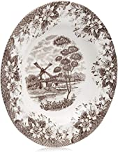 Claytan Windmill brown Soup Plate 24 Cm