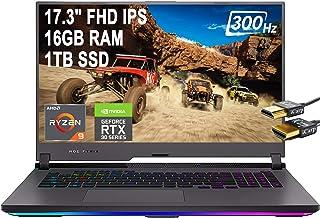 Flagship 2021 ASUS ROG Strix G17 ゲーミングノートパソコン 17.3インチ FHD IPS 300Hz 100% sRGB AMD Octa-Core Ryzen 9 5900HX 16GB RAM 1TB SS...