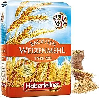 Weizenmehl Typ 550 von Haberfellner | 5kg Mehl Sack | Nährstoffreiches Weizenmehl geeignet als Pizzamehl und Brotmehl | Beste Qualität ohne Gentechnik und pestizid-kontrolliert