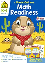 School Zone - Math Readiness Press-Out Workbook - Ages 5 to 7, Kindergarten to First Grade, Manipulatives, Stickers, Board...