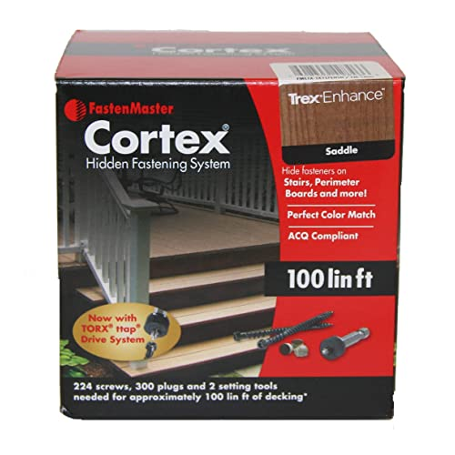 FastenMaster Cortex Concealed Deck Fasteners - Trex ENHANCE Saddle - 100 Linear  Feet