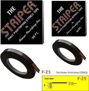 The Striper Paint Pinstriping Stencil Tape - Pinstripe Your Car/Truck   Striper: F-25   Results: 3/32
