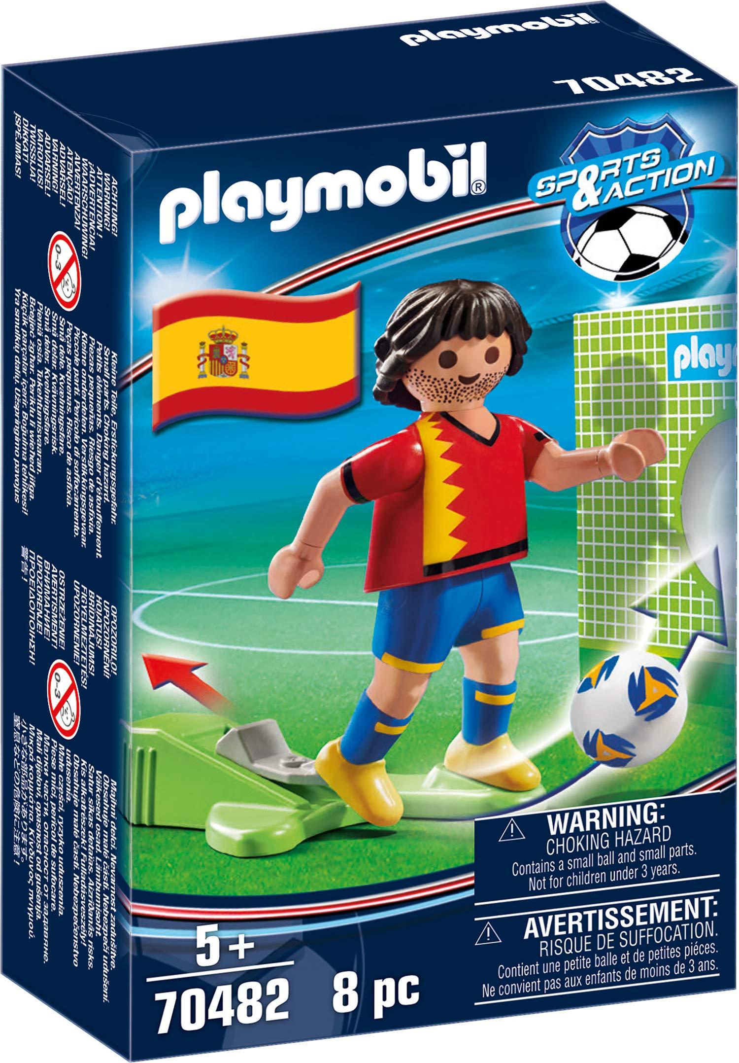 PLAYMOBIL-Jugador de fútbol, España (70482), color spain: Amazon ...