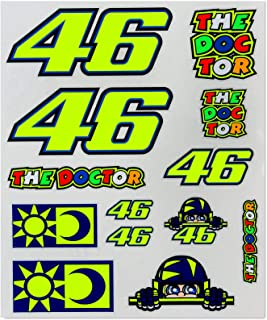 VR46 Valentino Rossi #46 Large Sticker Pack 13 Mixed Decals Official Merchandise