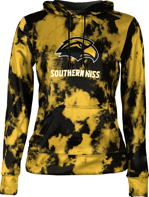 University of Southern Mississippi Girls' Pullover Hoodie, School Spirit Sweatshirt (Grunge)