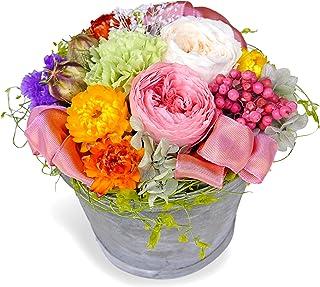 ROSETIQUE アロマ香る プリザーブドフラワー アレンジメント ギフト プレゼント 日本製プリザ 国産 ドライフラワーミックスアレンジ (ピンク)