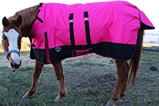 CHALLENGER 1200D Turnout Waterproof Horse Winter Blanket Heavy Belly Band 573B