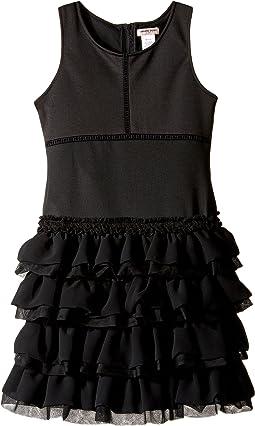 Ponte Dress with Chiffon & Tulle (Little Kids/Big Kids)