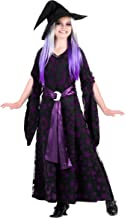 Child Magical Witch Costume Girl's Purple Moon Witch Costume