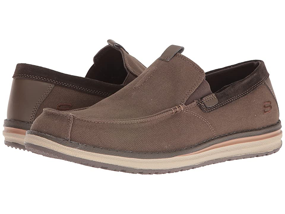 SKECHERS Classic Fit Melson Valerio (Chocolate Canvas/Suede) Men