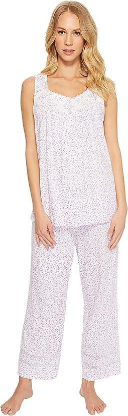 Carole Hochman Cozy Jersey Sleeveless Capris Pajama