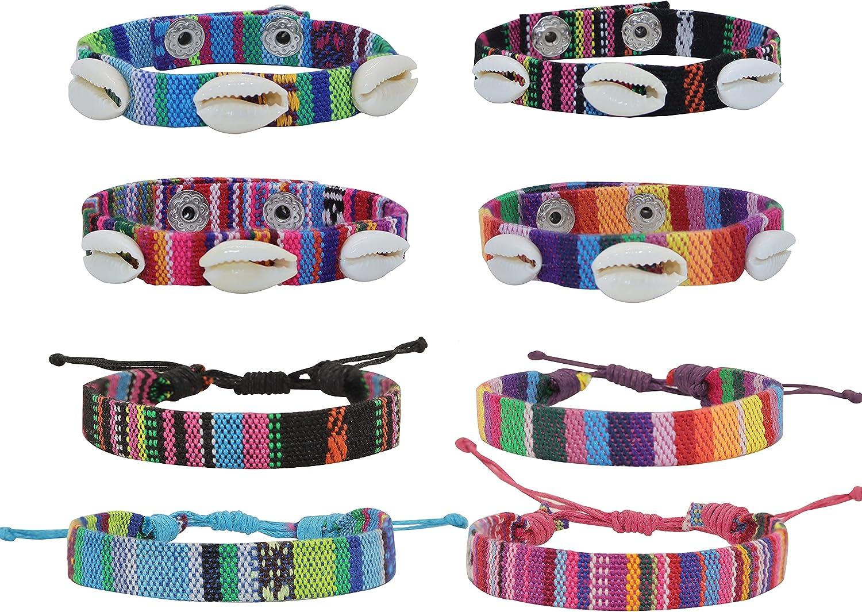 FROG SAC 8 Ethnic Max 84% OFF Tribal Bracelets Woven B Women Bargain Friendship for
