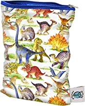 Planet Wise Wet Bag, Small, Dino Mite Dinosaur (Made in The USA)