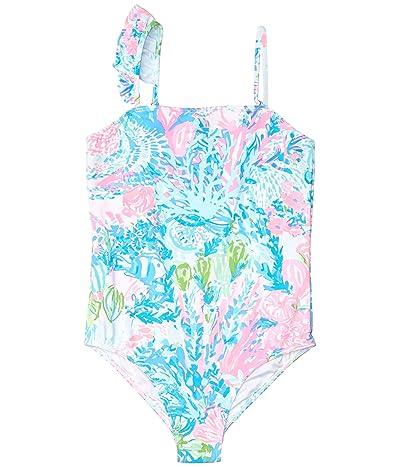 Lilly Pulitzer Kids Saskia UPF 50+ Swimsuit (Toddler/Little Kids/Big Kids) (Multi Fished My Wish) Girl
