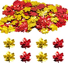 Iceyyyy 1000pcs+ Fall Thanksgiving Maple Leaves Confetti - Autumn Party Table Maple Leaves Metallic Foil Confetti Decorations