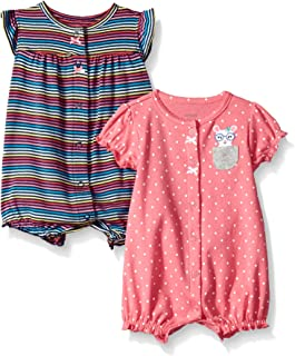 Baby Girls' 2-Pack Romper