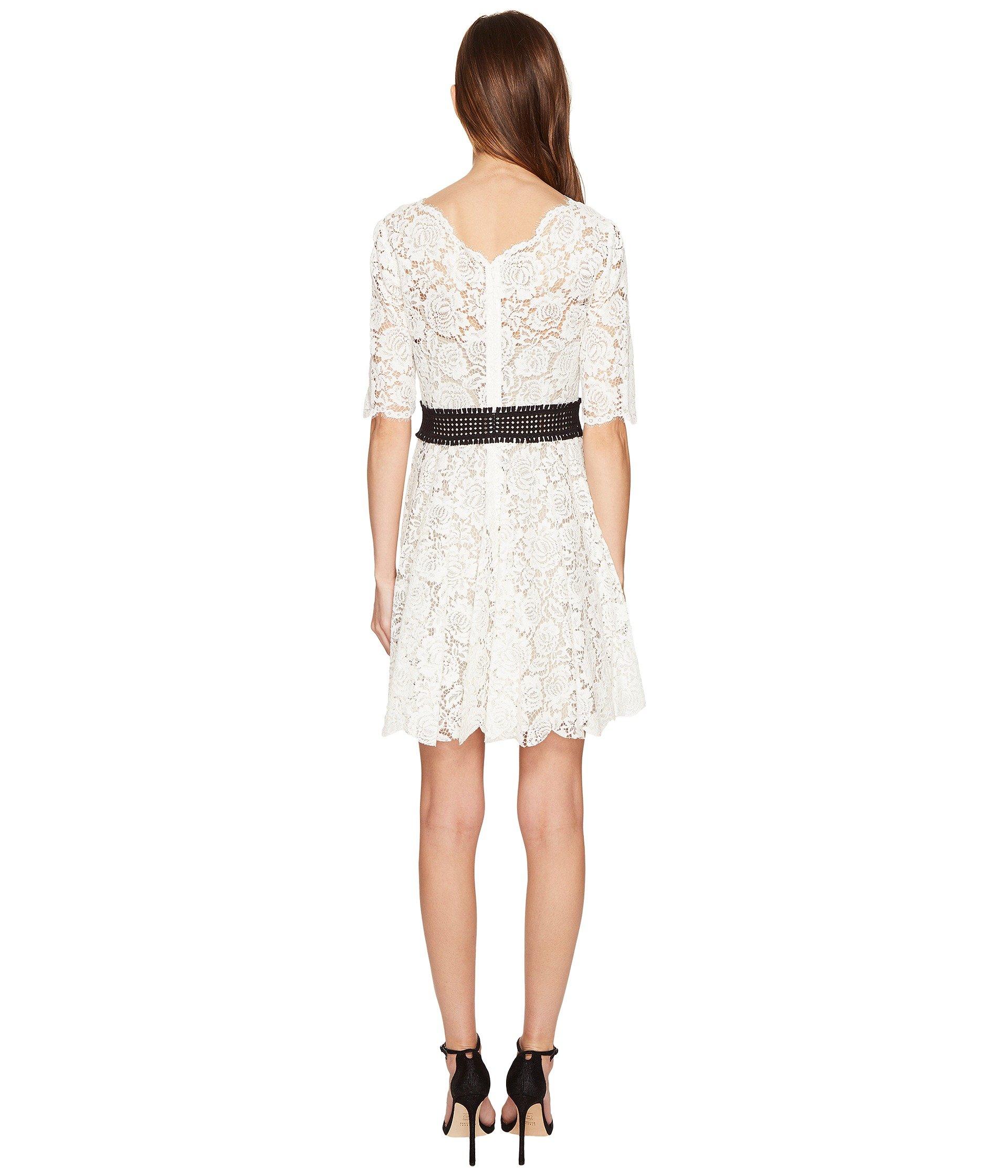 the kooples robe courte tout en dentelle manches longues dress at 6pm. Black Bedroom Furniture Sets. Home Design Ideas