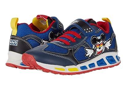 Geox Kids Shuttle 16 Mickey Mouse (Little Kid/Big Kid) (Navy/Red) Boy