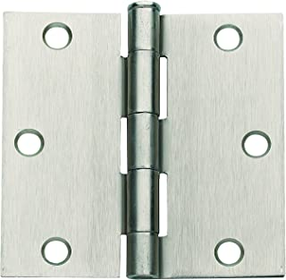 Radius Oil-Rubbed Bronze Plain Steel Ball Bearing Non-Removable Pin Steel Hinge with 5//32 in Global Door Controls 4.5 in Renewed Set of 3 x 4 in