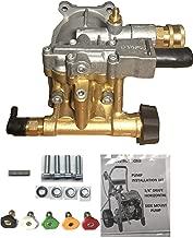 Bonus PAC 5 Tips + Brass Head Horizontal W/Quick Coupler Socket 3100 PSI Pressure Washer Pump KIT 3/4