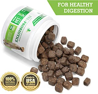 Buddy&Max Probiotics for Dogs - Chewable Dog Digestive Enzymes - Dog Diarrhea, Stomach, Vomit, Gas, Allergy Relief, Weight Support - Contains Prebiotics - Dog Probiotics Supplement