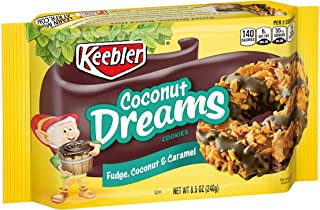 Keebler Coconut Dreams Cookies, Fudge, Caramel & Coconut, 8.5oz Tray
