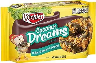 Keebler Coconut Dreams Cookies, Fudge, Caramel & Coconut, 8.5oz Tray