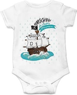 BS011 con nome a scelta motivo: nave pirata Body per neonato