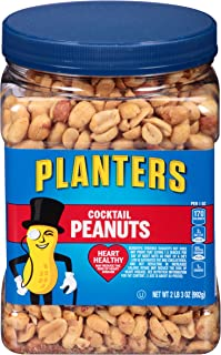 PLANTERS Salted Cocktail Peanuts, Resealable Jar, Heart Healthy Salted Peanuts, A Good..