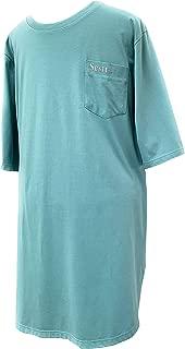 Sestra Care Solution Men's Open Back Night Shirt 3/4 Sleeve
