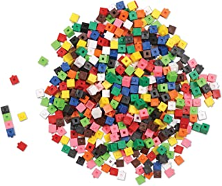 Learning Resources Interlocking Gram Unit Cubes, Math Classroom Teaching Aids, 10 Assorted Colors, Set of 1, 000, Ages 6+