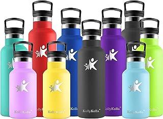 KollyKolla Gourde Inox Isotherme, Bouteille d'eau avec Paille & Filtre sans BPA, Isolation sous Vide en Acier Inoxydable à...