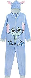 Disney Stitch Pijama Entero para Niñas De Una Pieza Super Suaves, Disfraces de Animales, Ropa de Dormir Niña Invierno, Pij...