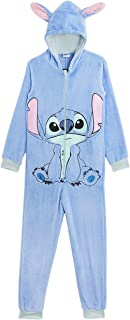 Disney Stitch Onesie, Official Lilo and Stitch Fun Accessories for Kids Fancy Dress Cosplay Dress Up Costume Kigurumi Warm...