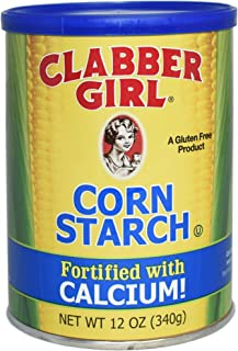 Clabber Girl Corn Starch - Gluten Free, Vegan, Vegetarian, Thickener for sauce, soup, gravy in a Resealable Can - 12 oz can (1)
