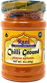 Rani Chilli Powder (Mirchi) Ground Indian Spice 3oz (85g) ~ All Natural, Salt-Free | Vegan | No Colors | Gluten Friendly | NON-GMO | Indian Origin