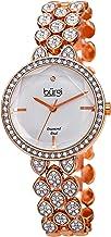 Burgi Designer Women's Watch – Swarovski Crystal Studded Case and Strap with Diamond Marker – Stainless Steel Bracelet - BUR232