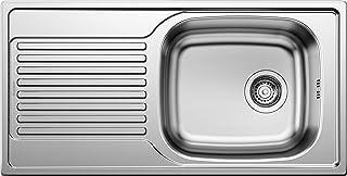 BLANCO Magnat, Küchenspüle, reversibel, Edelstahl Naturfinish / mit 3 1/2 Korbventil - ohne Ablauffernbedienung 511916