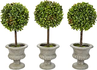 Pure Garden Faux Boxwood– 3 Matching Realistic 12.5